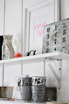 Floating Shelves Styling | Mrs. Monday.