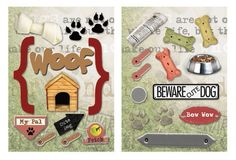 Paper House Productions - Dog Collection - Die Cut Chipboard Pieces - Dog