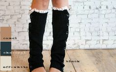 ALL+COLORS++Knit+Legwarmers+with+Button+and+by+BurkeandLouiseCo,+$25.00