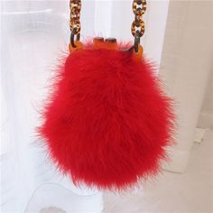 Winter women fur bag ostrich feather acrylic chain lady purse handbags clip bags vintage chic messenger bag Fur Bag, Ladies Purse, Ostrich Feathers, Types Of Bag, Pattern Fashion, Purses And Handbags, Messenger Bag, Shoulder Bag, Chain