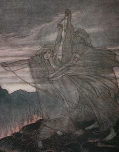 Arthur Rackham (1867 - 1939) - The Norns Vanish (Siegfried and The Twilight of the Gods), 1911