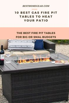 10 Best Gas Fire Pit Tables for 2020 - Best Home Gear Large Fire Pit, Round Fire Pit, Cool Diy Projects, Outdoor Projects, Cool Fire Pits, Gas Fire Pit Table, Fire Glass, Patio Heater, Extruded Aluminum
