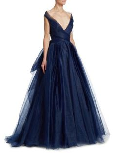 0abb84a16f9c Buy Zac Posen Blue Women's Convertible Tulle Ball Gown - Navy - Size  Similar products also available.