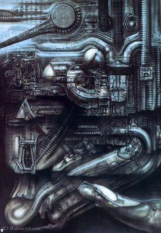 H R Giger Newyorkcity Xiv Factory Chur, Hr Giger Art, Hr Giger Alien, Zurich, Art Optical, Alien Art, Science Fiction Art, Land Art, Sci Fi Art