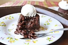 Versatile Vegetarian Kitchen: Molten Lava Cake (Using Cocoa powder)