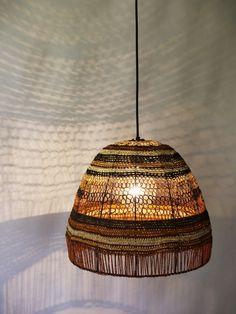 Aboriginal craft lampshades