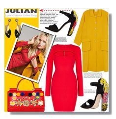 """JULIAN FASHION!"" by ladybug-100 ❤ liked on Polyvore featuring Monki, BCBGMAXAZRIA, Dolce&Gabbana, Brian Atwood, Garance Doré, Marni and Julian"
