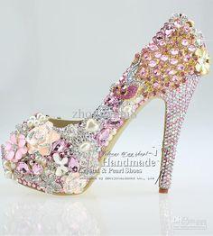 Wholesale Peep Toe Wedding Shoes Uk Pink Light