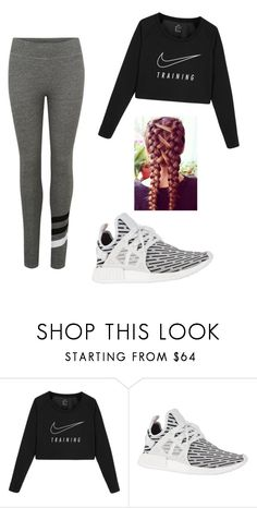 """""""I Work Out"""" by izzybee218 ❤ liked on Polyvore featuring NIKE, adidas Originals and Sundry"""