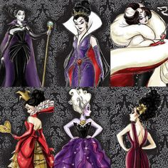 Disney Villains Designer Collection - Preview Sketches by Hilda Chui, via Flickr