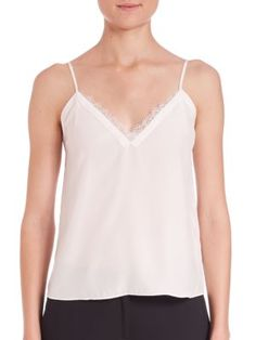 THE KOOPLES Silk & Lace Camisole. #thekooples #cloth #camisole