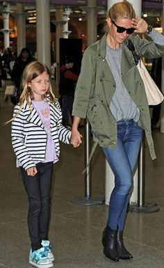 Apple Martin at the airport with mom, Gwyneth Paltrow