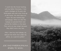 Joe and Pareraupauna (Pare) Te Whiu recall hunting stories. Hunting, House
