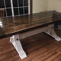 """32 Likes, 2 Comments - Kayla Logsdon (@kaylalogsdon) on Instagram: """"Forever thankful to have scored the best dang husband ever ❤️ #diy #farmhousetable #hecandoitall"""""""
