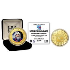 New York Rangers NHL Henrik Lundqvist Bronze Color Coin