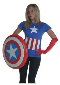 Superhero Costumes Women on Pinterest  sc 1 st  Pinterest & Captain America Dress // Womens Superhero Halloween Costume ...