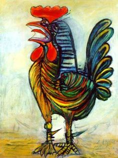 Do Art!: Picasso Rooster Picasso roosters  how to
