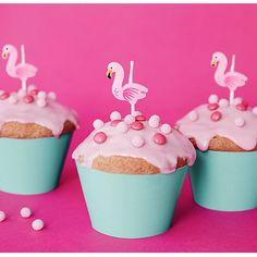 Flamingo Geburtstagskerzen, 5 Stück Aloha Party, Flamingo Party, Cupcakes, Tropical, Confetti, Desserts, Food, Grown Up Parties, Decorating