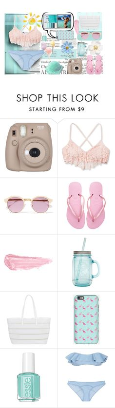 """Beach day"" by rowcastyle ❤ liked on Polyvore featuring Tiffany & Co., Old Navy, Sheriff&Cherry, Havaianas, By Terry, ALADDIN, Cotton Candy, BUCO, Essie and Lisa Marie Fernandez"