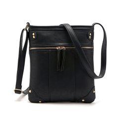 Casual Rivet Zip Mini Crossbody Bag for Women 7271