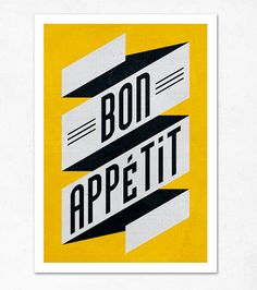 Bon appetit illustration print by edubarba