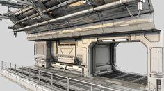 3d designer sci fi model
