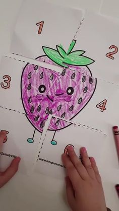 cute food square puzzle- learn to count 1 Preschool Puzzles, Printable Puzzles For Kids, Preschool Colors, Free Preschool, Preschool Worksheets, Preschool Crafts, Free Printable, Activities For 6 Year Olds, Preschool Learning Activities