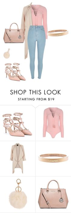 """Untitled #68"" by mchealsea016 ❤ liked on Polyvore featuring Valentino, Glamorous, Chanel, MICHAEL Michael Kors and River Island"