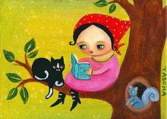 O Lobo Leitor: E depois de o mocho a ensinar a ler a menina vai ler para os seus amiguinhos da floresta.