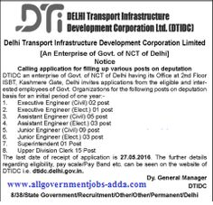 www.AllGovernmentjobs-Adda.com: DTIDC (Delhi Transport Infrastructure Development ...
