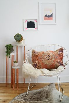 DIY Concrete + Copper Plant Stand