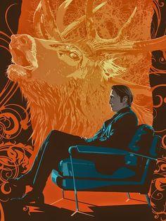 Hannibal Fan Art by Stephen Sampson / Dr.Lecter