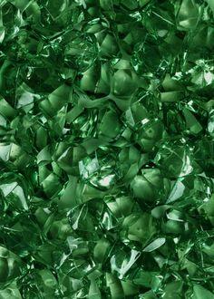 Emerald Green Acrylic Sea Glass