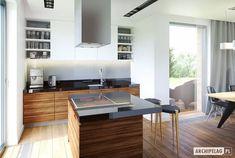 Projekt domu olaf g2 energo plus nowoczesna kuchnia od pracownia projektowa archipelag nowoczesny   homify Olaf, Conference Room, Table, Furniture, Home Decor, Decoration Home, Room Decor, Tables, Home Furnishings