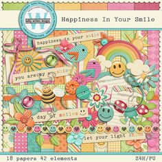 Scrapbook digital felicidad en tu sonrisa