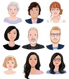custom illustrated portraits avatars for social media etsy