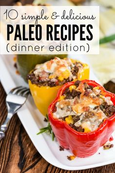 If you're a paleo junkie and need new and exciting dinner recipes for your family, this collection of simple and delicious paleo recipes will give you the inspiration you need!