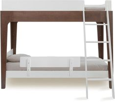The Oeuf Perch Bunk Bed offers a chic modern kids bunk bed ensemble that makes an excellent addition to any child's bedroom. This modern bunk bed features a compact design which works well in smaller