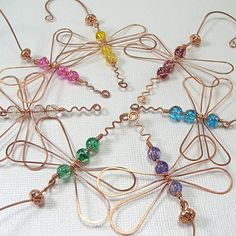 Copper wire dragonfly ornaments