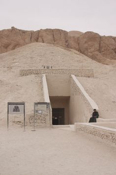 Entrance to pharaoh Ramses VI tomb (KV9) in the Valley of the Kings, Egypt.
