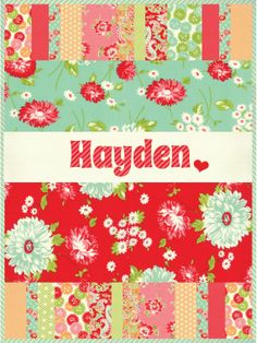 """The Baby Quilt - 45"""" x 60"""" - Custom Baby or Children's Quilt with Personalized Name (Marmalade Fabrics)"""