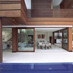 Modern house design, dream home design, tropical houses, tempo, bali style Cool House Designs, Modern House Design, Dream Home Design, Home Interior Design, Style At Home, Loft Railing, Dream House Exterior, Home Fashion, Interior Architecture
