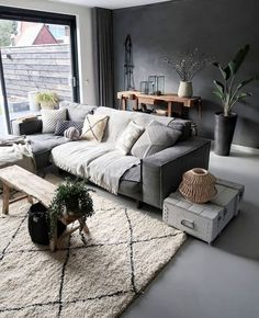 Unusual Living Room Design Ideas You Must Try Living Room Grey, Living Room Sets, Home Living Room, Interior Design Living Room, Living Room Designs, Living Room Furniture, Living Room Decor, Bedroom Decor, Living Room Inspiration