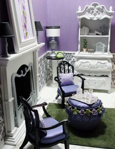 Purple Room Dollhouse Miniature