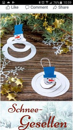 Vorschule Basteln Winter – Rebel Without Applause Kids Christmas, Christmas Crafts, Xmas, Christmas Ornaments, Winter Art, Winter Theme, Winter Snow, Diy Crafts To Do, Arts And Crafts