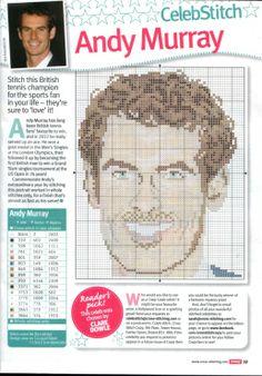 sandylandya@outlook.es Andy Murray Cross Stitch Chart
