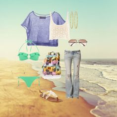 """day at the beach"" by terahmalsam on Polyvore"