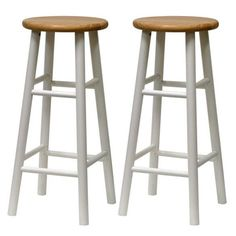 Furniture - The set of 2 beveled leg kitchen Stools are classic, simple and versatile. An essential and great for any counter, bar or kitchen area. The stools will provide