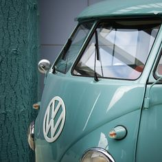 Tiffany Blue VW Bus!