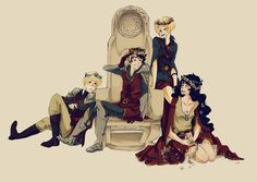 Chronicles of Narnia x Homestuck. Dave, John, Rose, and Jade as Edmund, Peter, Susan, and Lucy.